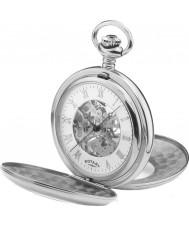 Rotary MP00712-01 Mężczyzna szkielet mechaniczny zegarek kieszonkowy ze stali
