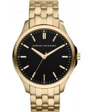 Armani Exchange AX2145 Mens black pozłacana bransoletka strój zegarek