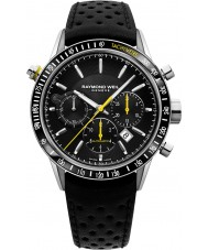 Raymond Weil 7740-SC1-20021 Mężczyźni freelancer czarny skórzany zegarek chronograf