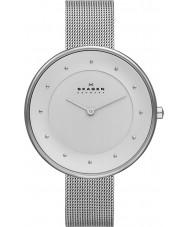Skagen SKW2140 Panie Klassik srebrny zegarek siatkową