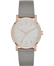 DKNY NY2341 Ladies soho szary skórzany pasek zegarka