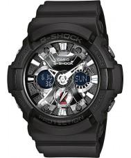 Casio GA-201-1AER Mężczyźni g-shock czas światowy czarny zegarek chronograf