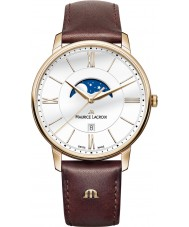 Maurice Lacroix EL1108-PVP01-112-1 Męska Eliros brązowy skórzany pasek zegarka