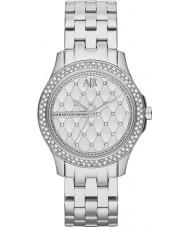 Armani Exchange AX5215 Panie srebrne stalowa bransoleta zegarka sukni