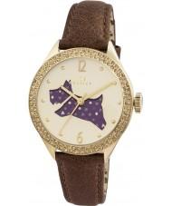 Radley RY2210 Panie brązowy skórzany pasek zegarek z kamieniami