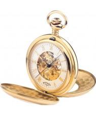 Rotary MP00713-01 Mężczyzna mechaniczny szkielet pozłacany zegarek kieszonkowy