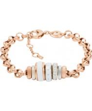 Fossil JF01121998 Classics Ladies wzrosła złotą bransoletkę stalowym łańcuchem