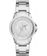 Armani Exchange AX4320 Panie miejskich srebrny zegarek zestaw kamienia