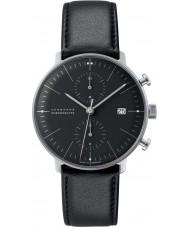 Junghans 027-4601-00 Max Bill czarny Chronoscope zegarek automatyczny