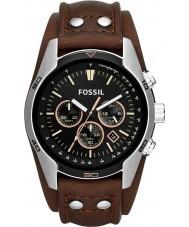 Fossil CH2891 Mens woźnica brązowy skórzany zegarek chronograf