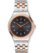 Swatch YIS405G Sistem tux two tone stalowa bransoleta zegarka