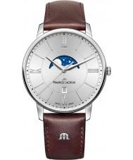 Maurice Lacroix EL1108-SS001-110-1 Męska Eliros brązowy skórzany pasek zegarka