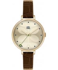 Orla Kiely OK2030 Panie bluszcz brązowy skórzany pasek zegarka