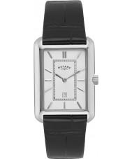Rotary GS02685-02 zegarki męskie biały czarny zegarek