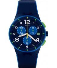 Swatch SUSN409 Bleu sur bleu zegarek