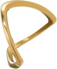 Edblad 3153441919-XS Panie Kavala pozłacany pierścień - rozmiar L (XS)