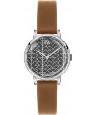 Orla Kiely OK2031 Patricia Ladies macierzystych druku tan skórzany pasek zegarka