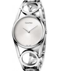 Calvin Klein K5U2M146 Panie srebrne okrągłe stalową bransoletę zegarka