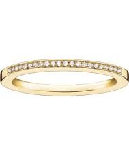 Thomas Sabo Damski glam i dusza żółty złoty pierścień diamentowy