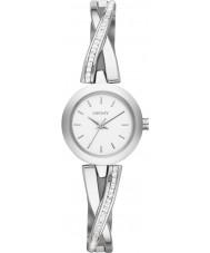 DKNY NY2173 Panie crosswalk srebrny zegarek zestaw kamienia