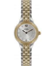 Rotary LB02762-59 zegarki damskie srebrne i różowe złoto zegarek