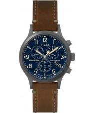 Timex TW4B09000 Mężczyźni wyprawa brązowy skórzany pasek do zegarka