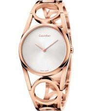 Calvin Klein K5U2M646 Panie okrągłe wzrosła pozłacany zegarek