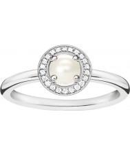 Thomas Sabo Damski glam i srebrny diament pierścień diamentowy