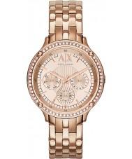 Armani Exchange AX5406 rose Ladies pozłacana bransoletka strój zegarek