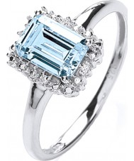 Purity 925 PNC2020-2 Panie 925 srebrny pierścionek z topaz cyrkoniami