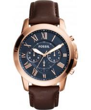 Fossil FS5068 Mężczyźni przyznają brązowy skórzany zegarek chronograf