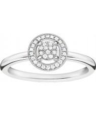Thomas Sabo D-TR0008-725-14-54 Panie Glam i duszą 925 srebrny pierścionek z brylantem - O ROZMIAR (UE 54)