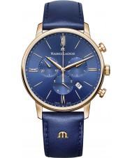 Maurice Lacroix EL1098-PVP01-411-1 Męska Eliros niebieski skórzany pasek zegarka Chronograph