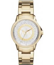 Armani Exchange AX4321 Panie miejskich złocone kamienne ustawić zegarek
