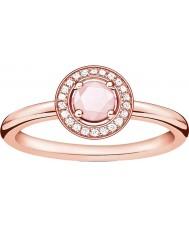 Thomas Sabo D-TR0009-925-9-52 glam Panie i dusza wzrosła pozłacany pierścień z brylantem - Rozmiar m.5 (UE 52)
