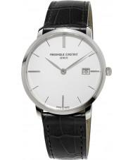 Frederique Constant FC-220S5S6 Slimline Męski czarny skórzany pasek do zegarka