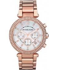 Michael Kors MK5491 Panie Parker wzrosła złoty zegarek chronograf