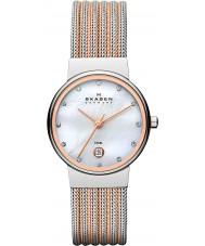 Skagen 355SSRS Panie Klassik dwa tonu stalowy zegarek