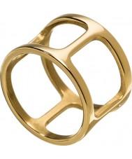 Edblad 3153441913-XL Panie Helena żółty pozłacany pierścień - rozmiar S (XL)