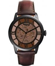 Fossil ME3098 Męska mieszczanina brązowy skórzany zegarek automatyczny