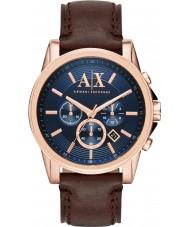Armani Exchange AX2508 Mężczyzna niebieski ciemny brązowy strój zegarek chronograf