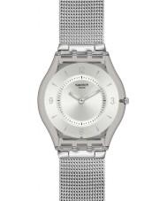 Swatch SFM118M Skóra - dzianina metalowa zegarek