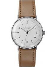 Junghans 027-3701-00 Max Bill tan brązowy handwinding mechaniczny zegarek