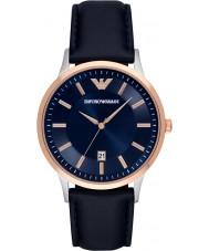 Emporio Armani AR2506 Męskie klasyczne niebieskie skórzany pasek zegarka