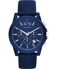 Armani Exchange AX1327 Sport niebieski silikon Chronograph zegarek