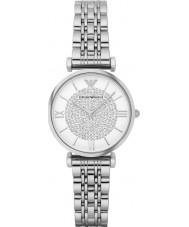 Emporio Armani AR1925 Panie srebro stal suknia zegarek
