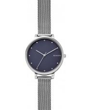 Skagen SKW2582 Panie Hagen srebrna siatka stalowa bransoletka zegarek