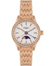 Rotary LB02854-01 zegarki damskie Beaumont moonphase wzrosła złoty zegarek