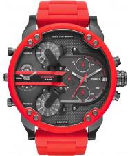 Diesel DZ7370 Mężczyźni mr tata 2,0 czerwono stalowa bransoletka zegarek