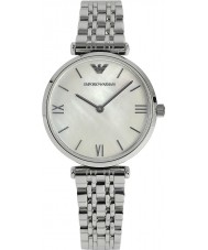 Emporio Armani AR1682 perły i srebro sukienka damska zegarek